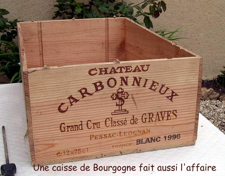 Une caisse de Graves