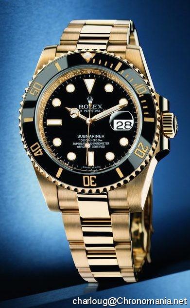 Rolex Submariner Or Acier